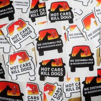"""Naklejki na samochód """"Nie zostawiaj psa w rozgrzanym aucie"""" / """"HOT CARS KILL DOGS"""""""